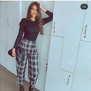 Zara slouchy pants bloggers favorite